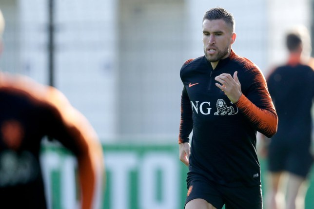 ZEIST, NETHERLANDS - OCTOBER 9: Kevin Strootman of Holland during the Training Holland at the KNVB Campus on October 9, 2018 in Zeist Netherlands (Photo by Laurens Lindhout/Soccrates/Getty Images)