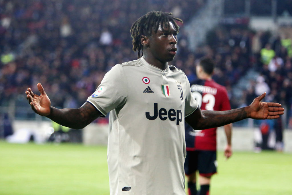 Cagliari to face no punishment from Serie A after fans racially abused Juventus striker Moise Kean