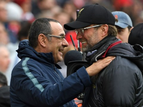 Chelsea manager Maurizio Sarri reveals why he feels sorry for Jurgen Klopp's Premier League runners-up