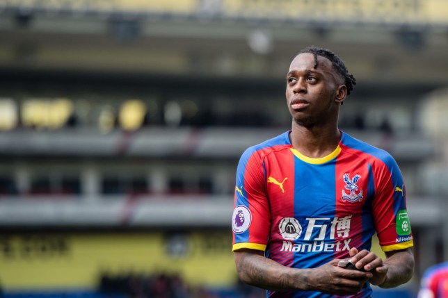 LONDON, ENGLAND - APRIL 14: Aaron Wan-Bissaka of Crystal Palace reaction during the Premier League match between Crystal Palace and Manchester City at Selhurst Park on April 14, 2019 in London, United Kingdom. (Photo by Sebastian Frej/MB Media/Getty Images)