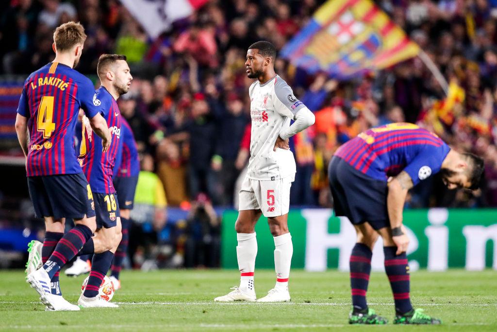 Liverpool boss Jurgen Klopp admits Georginio Wijnaldum was surprised to play upfront v Barcelona