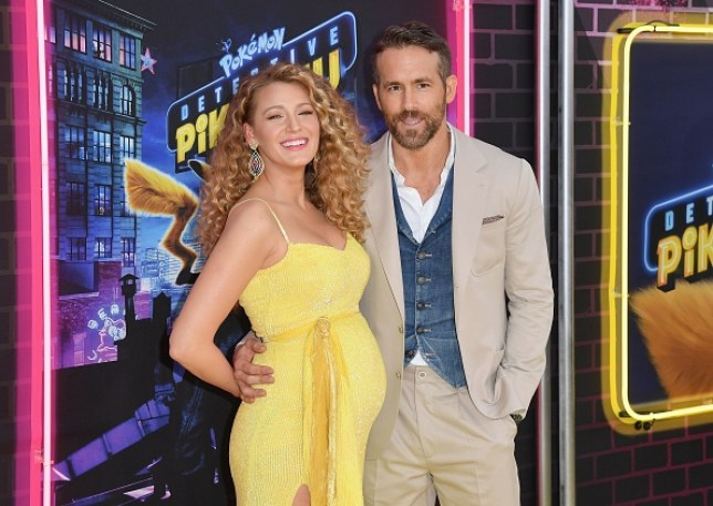 Blake Lively and Ryan Reynolds at Pokemon Detective Pikachu premiere