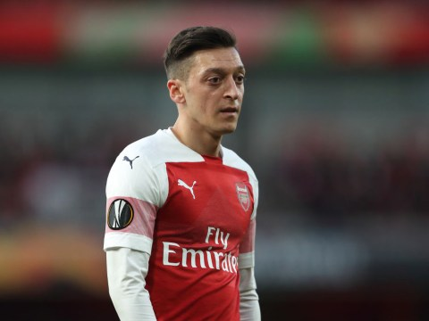 Unai Emery told to drop Mesut Ozil for second leg of Arsenal's Europa League semi final against Valencia by Martin Keown