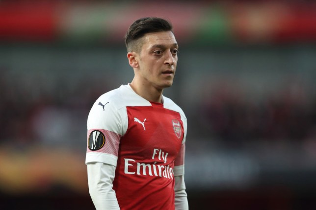 Mesut Ozil was withdrawn with 15 minutes remaining of Arsenal's Europa League semi final second leg against Valencia