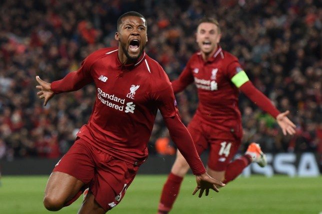 Georginio Wijnaldum scored twice to help Liverpool reach the Champions League final after an incredible comeback against Barcelona