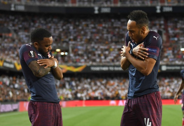 Arsenal strikers Pierre-Emerick Aubameyang and Alexandre Lacazette scored all of Arsenal's goals in the 7-3 aggregate win over