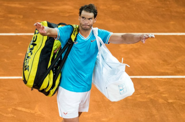 Rafael Nadal waves goodbye to the Madrid Open after defeat to Stefanos Tsitsipas