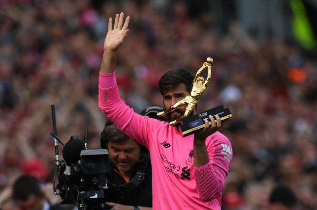 Alisson claimed 21 clean sheets in his first Premier League season for Liverpool