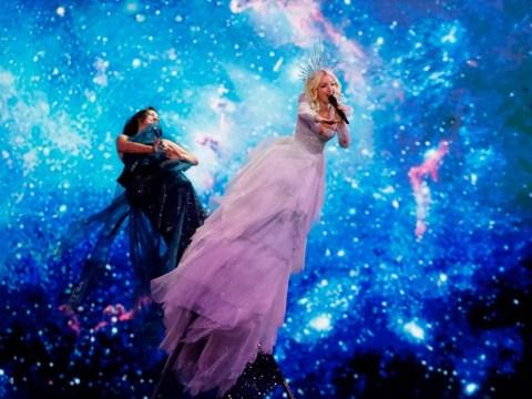 Australia's Eurovision entry Kate Miller-Heidke confirms that yes, that 16ft pole is kinda terrifying