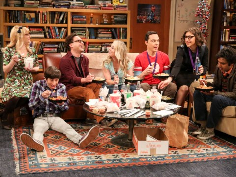 The Big Bang Theory without canned laughter is really uncomfortable