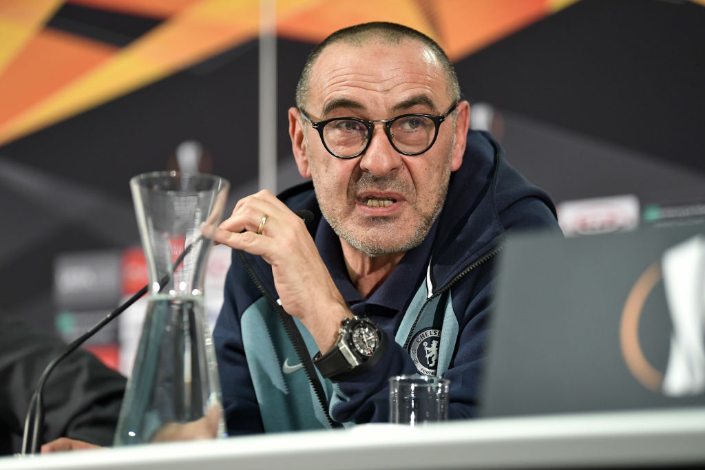 Maurizio Sarri reveals Arsenal's advantage over Chelsea in Europa League final