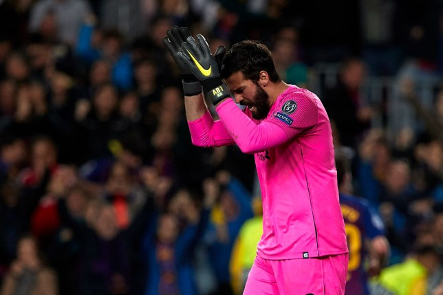 Barcelona put three goals past Liverpool goalkeeper Alisson at the Nou Camp