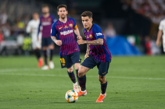 SEVILLE, SPAIN - MAY 25: Philippe Coutinho of FC Barcelona controls the ball during the Spanish Copa del Rey match between Barcelona and Valencia at Estadio Benito Villamarin on May 25, 2019 in Seville. (Photo by TF-Images/Getty Images)