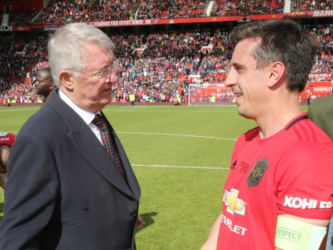 Sir Alex Ferguson takes cheeky dig at Gary Neville after Manchester United legends game