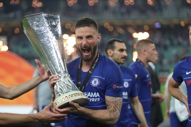 Olivier Giroud played a key role in Chelsea's Europa League final win over his former club Arsenal