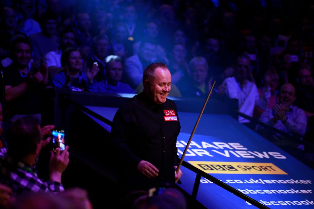 John Higgins misses final black in dramatic Snooker World Championship 147 attempt