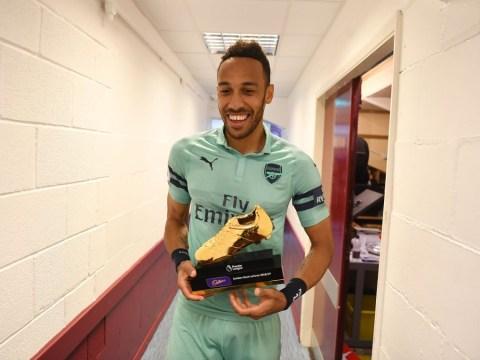Pierre-Emerick Aubameyang sends class message to Arsenal teammates after winning Premier League Golden Boot