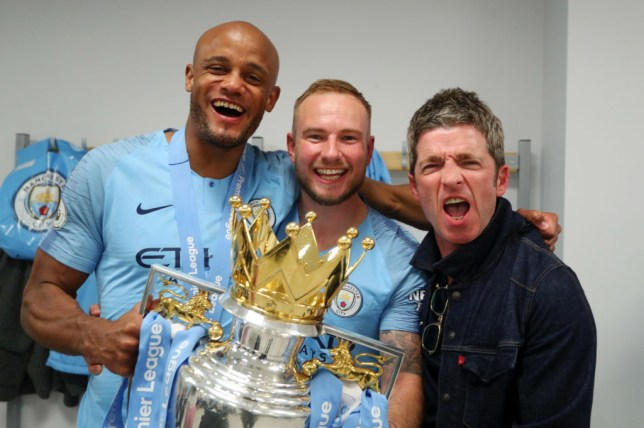 Noel Gallagher and Vincent Kompany