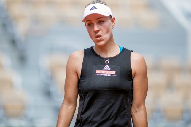 Angelique Kerber looks on during her French Open loss