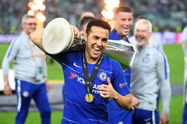 Pedro wins the Europa League with Chelsea