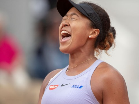 Naomi Osaka reacts to battling win against Victoria Azarenka