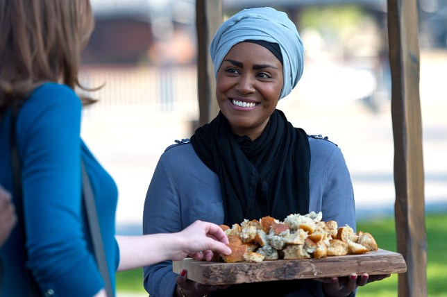 Nadiya Hussain from The Great British Bake Off