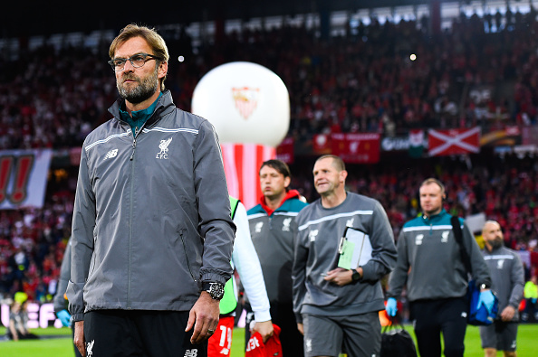 Jurgen Klopp and his Liverpool team travelled to Basel for the 2016 Europa League final against Unai Emery's Sevilla