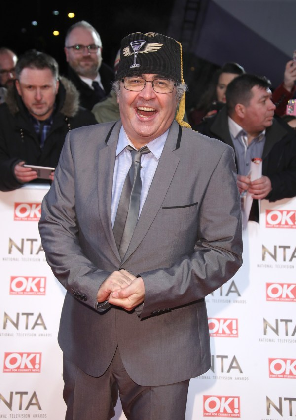 Danny Baker attends the National Television Awards
