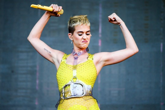 Katy Perry performing onstage