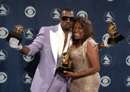 Donda West and Kanye West at the Grammys 200
