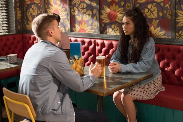 Harry meets up with Sadie in Hollyoaks