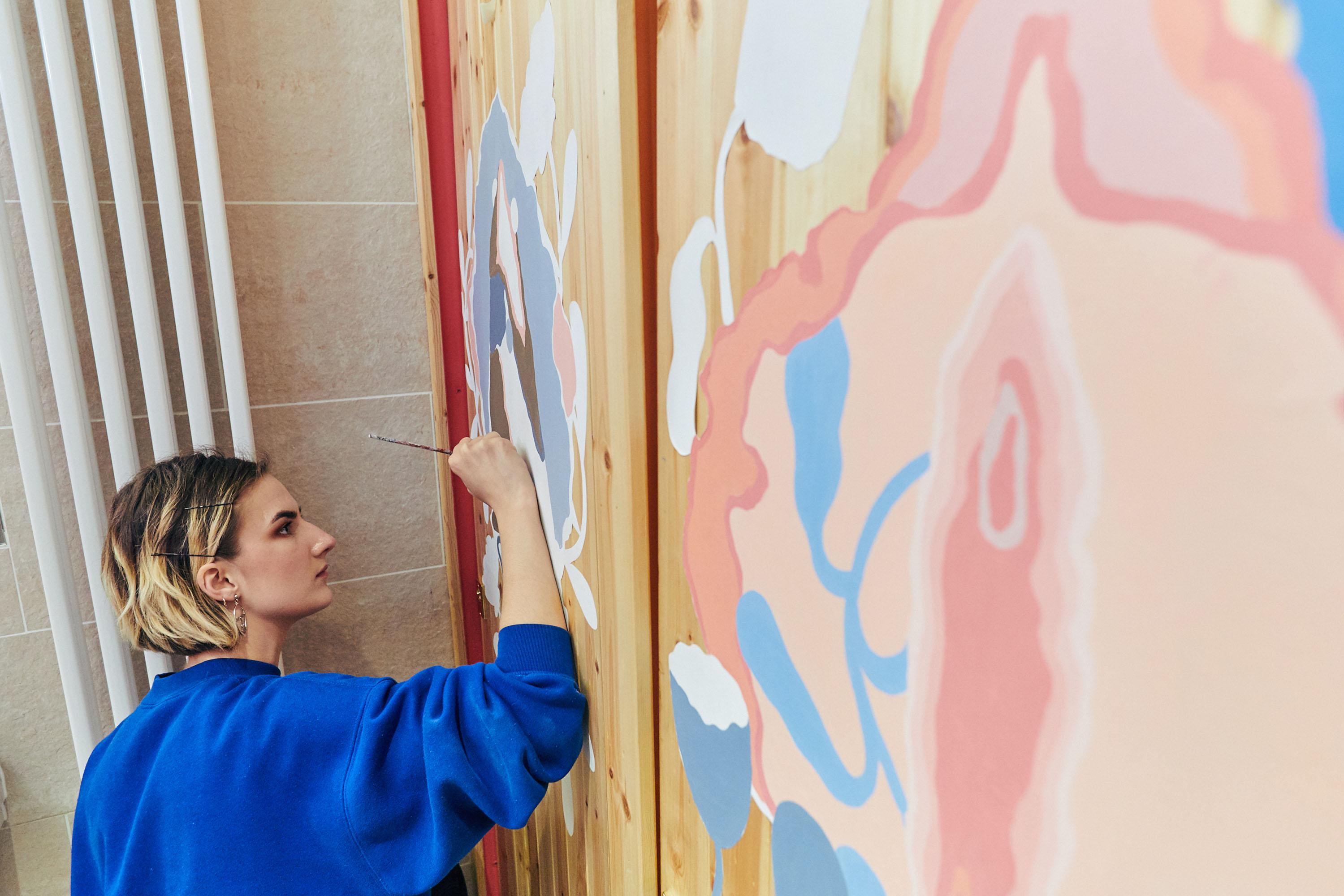 Vulva art is taking over penis doodles in bathrooms around London