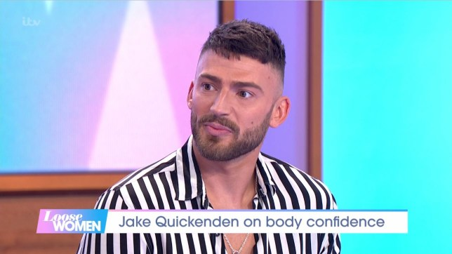 Jake Quickenden says posing naked in new show has helped