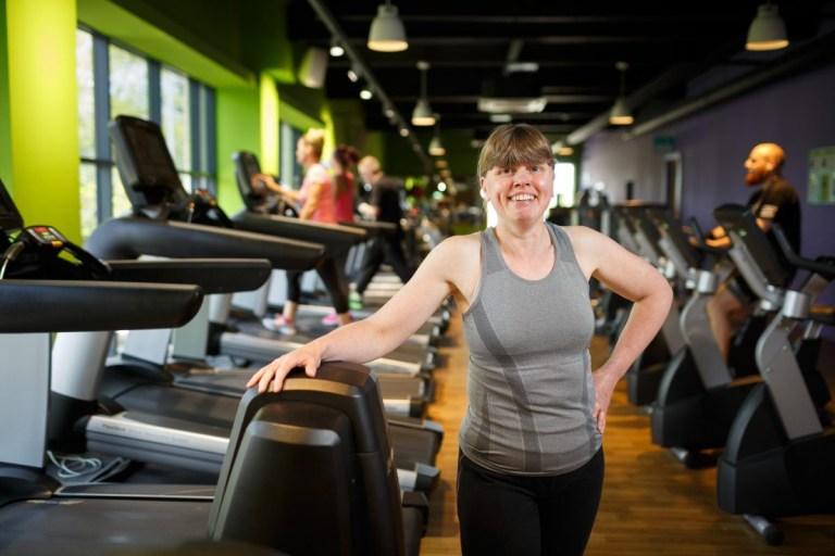 Melanie in the gym