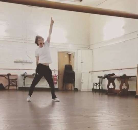 Rolling Stones star Mick Jagger back to his dancing self