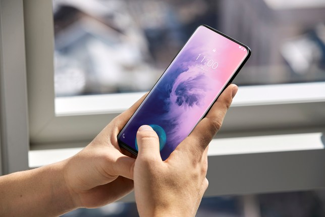 The screen is curved either side and, as you can see, there's no notch (OnePlus)