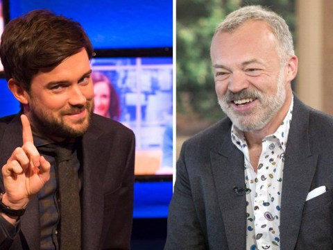 Where is Graham Norton as Jack Whitehall replaces him on chat show?