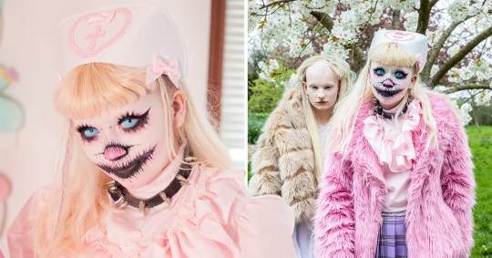 Youngster uses makeup to look like a 'genderless monster