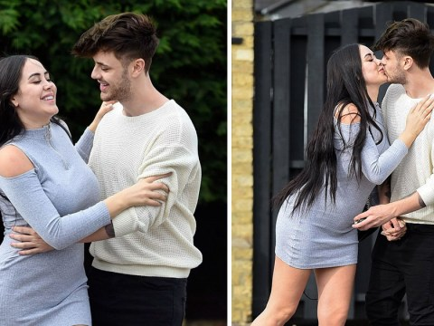 Marnie Simpson shares a sweet kiss with boyfriend Casey Johnson after pregnancy announcement