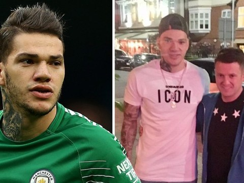 Man City goalkeeper denies supporting Tommy Robinson after posing with him