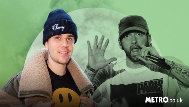 Justin Bieber with Eminem