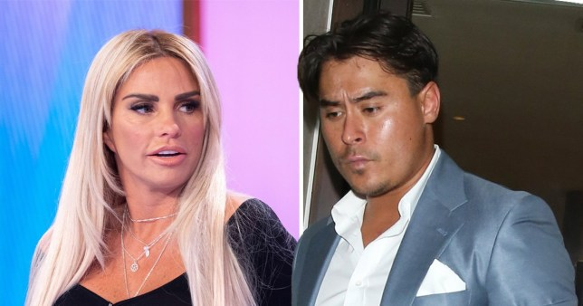 Katie Price with her ex-boyfriend Alex Adderson