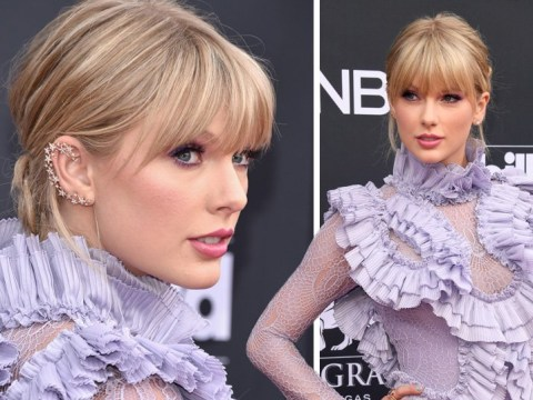 Taylor Swift is a lilac dream at the Billboard Music Awards 2019 and yes, she brought the cats