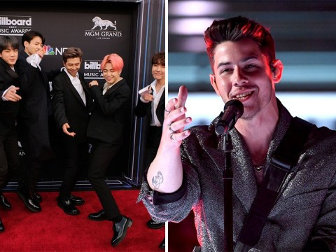 Nick Jonas recovers from not receiving fist bump from BTS by watching their Rose Bowl gig