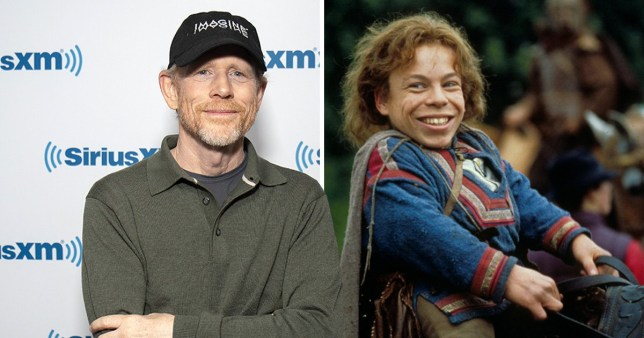 Ron Howard and Warwick Davis as Willow