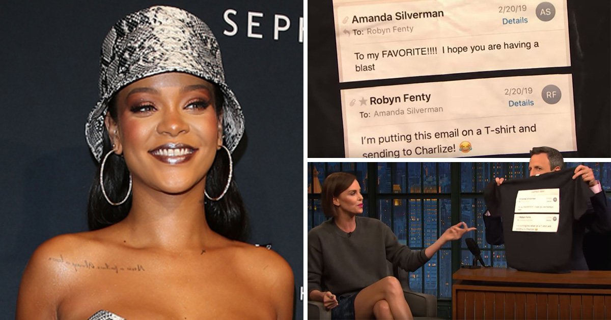 Rihanna trolls Charlize Theron IRL proving why she's the queen of sass