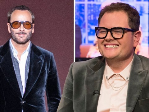 Alan Carr had a seriously awkward chat with Tom Ford at Adele's 30th birthday