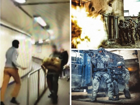 Dramatic pictures show gritty life of an armed police officer in London
