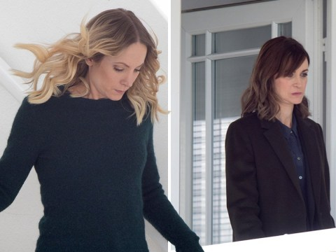 Katherine Kelly and Joanne Froggatt spotted filming police raid in Liar series 2