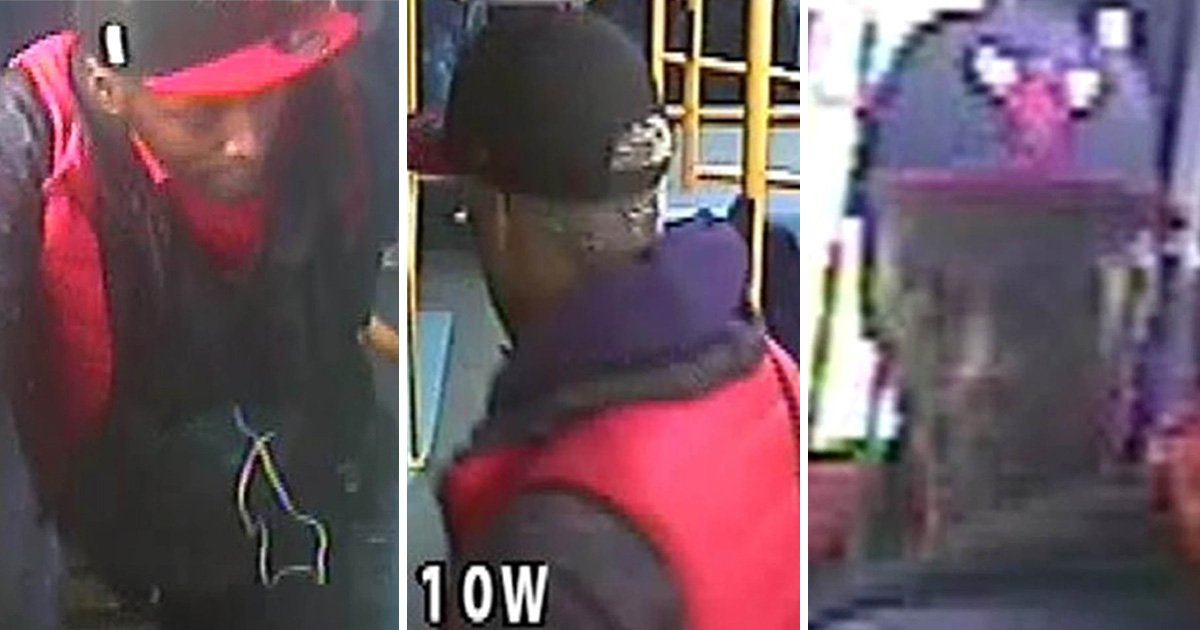 Hunt for American man who licked his lips before sexually assaulting girl on bus